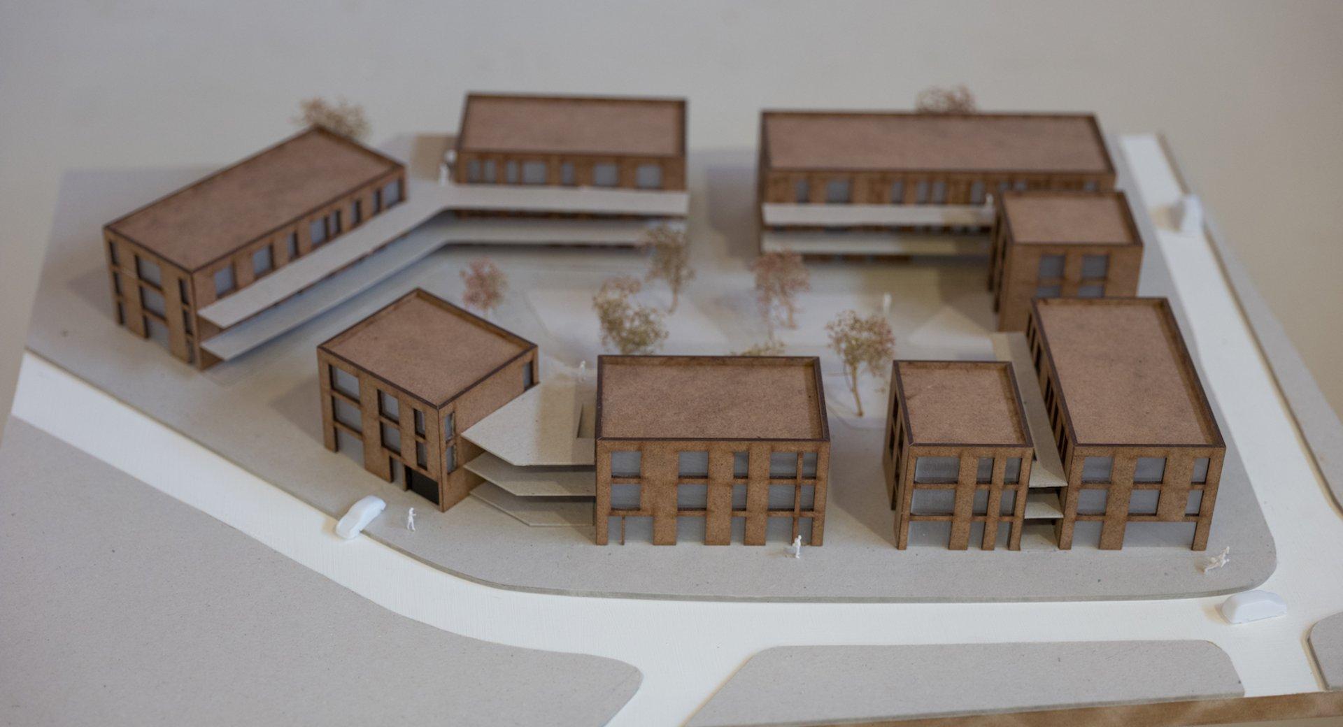 Architekturmodell Bonn-Buschdorf